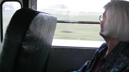 Foggy bus ride